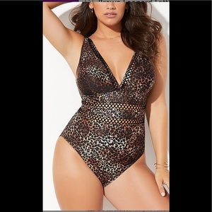 Swimsuits For All Leopard Print Bathing Suit